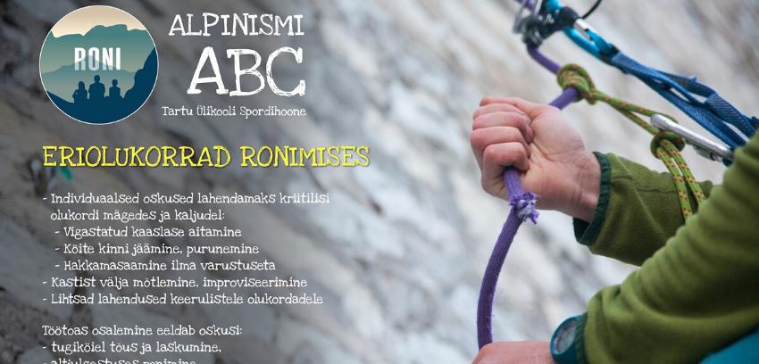 Alpinismi ABC: Eriolukorrad ronimises