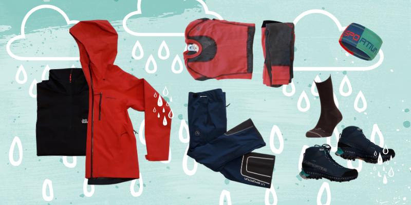Vihmase ilma kihiline riietus